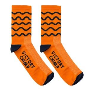 Hill Repeats Socks (Orange) © Victory Chimp