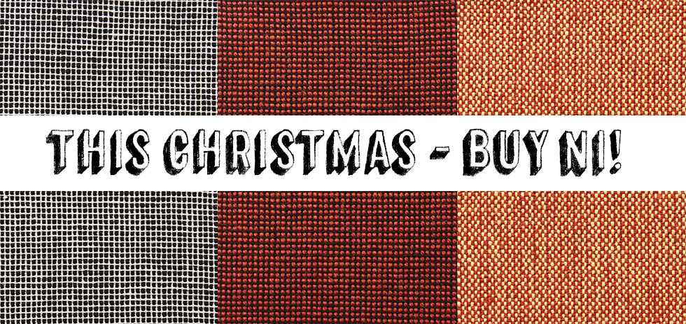 This Christmas Buy NI. Image features fabric by © Mourne Textiles