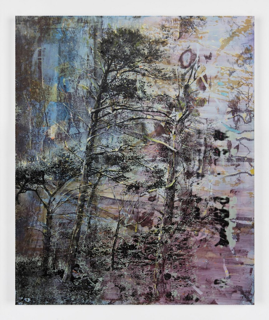 Elizabeth Magill, Still (2), 2017, oil and silkscreen on canvas, 183 x 153 cm / 72 x 60.2 in